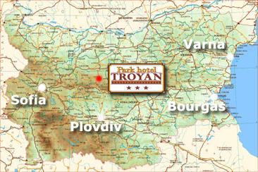Location of Parh Hotel Troyan